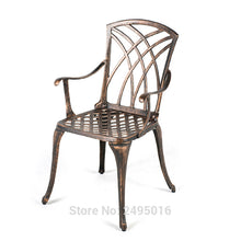 Load image into Gallery viewer, 11-piece cast aluminum patio furniture sets all-weather anti-rust in bronze color