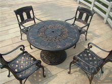 Load image into Gallery viewer, 5-piece heavy duty all-weather cast aluminum patio set