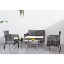 Load image into Gallery viewer, Panana Rattan Sofa Chair Table Set