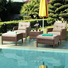 Load image into Gallery viewer, GIANTEX Outdoor Garden 5pcs/Set Patio Set With Cushions