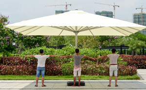 5x5meter square deluxe aluminum super big outdoor patio sun umbrella