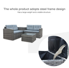 Load image into Gallery viewer, 4pcs All-Weather Wicker Outdoor Patio Set With Small Coffee Table