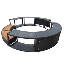 Load image into Gallery viewer, Panana Poly Rattan Spa Surround