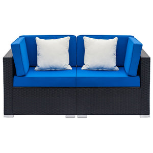 2pcs Home Indoor or Outdoor Sectional Sofa