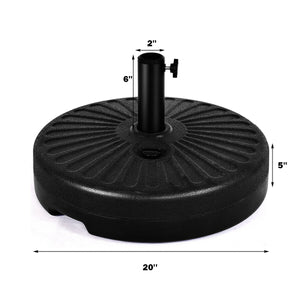 20'' Round 23L Water Filled Umbrella Base Stand