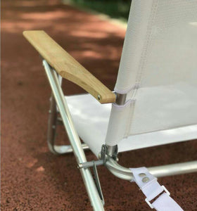5 Position Folding Beach Chair with Carrying Strap