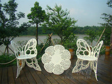 Load image into Gallery viewer, 4-piece butterfly cast aluminum dining chair and table patio furniture
