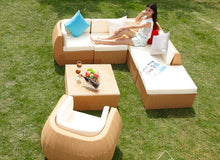 Load image into Gallery viewer, Rattan Outdoor Sofa Set