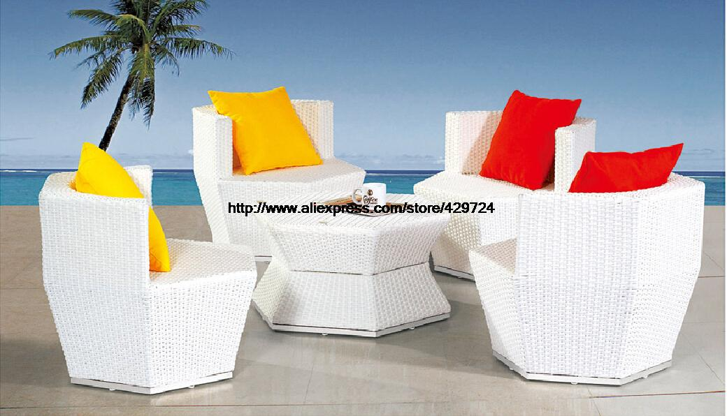 Creative Rattan Combination Furniture Bottle Shaped Garden Sofa Set
