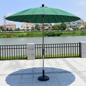 2.5 meter 24K steel iron ribs patio umbrella