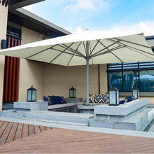 Load image into Gallery viewer, 5x5meter square deluxe aluminum super big outdoor patio sun umbrella
