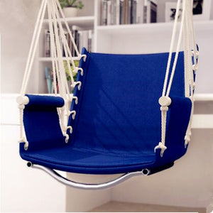 Garden Patio Porch Hanging Cotton Rope Swing Chair