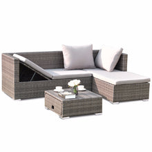 Load image into Gallery viewer, Giantex 3PCS Rattan Wicker Sofa Furniture Set