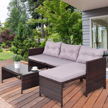 Load image into Gallery viewer, Giantex 3 PCS Outdoor Rattan Furniture Sofa Set