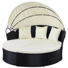 Load image into Gallery viewer, Giantex Outdoor Patio Sofa Furniture Round Retractable Canopy Daybed