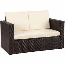 Load image into Gallery viewer, Giantex 2PCS Patio Rattan Loveseat