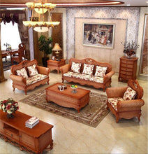 Load image into Gallery viewer, Rattan sofa and tea table wicker set