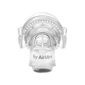 ResMed AirMini™ Travel CPAP Connector for AirFit™/AirTouch™ F20 and F30 Full Masks front view