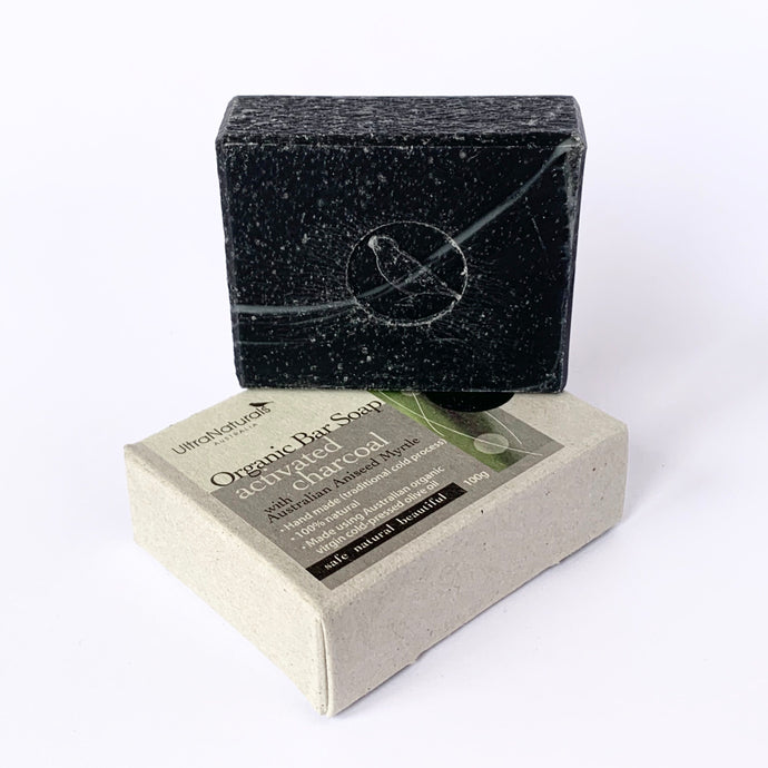 Hand made Bar Soap Activated Charcoal (aniseed)