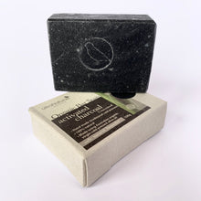 Load image into Gallery viewer, Hand made Bar Soap Activated Charcoal (unscented)