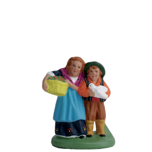 Couple d'enfants 7 cm ESCOFFIER