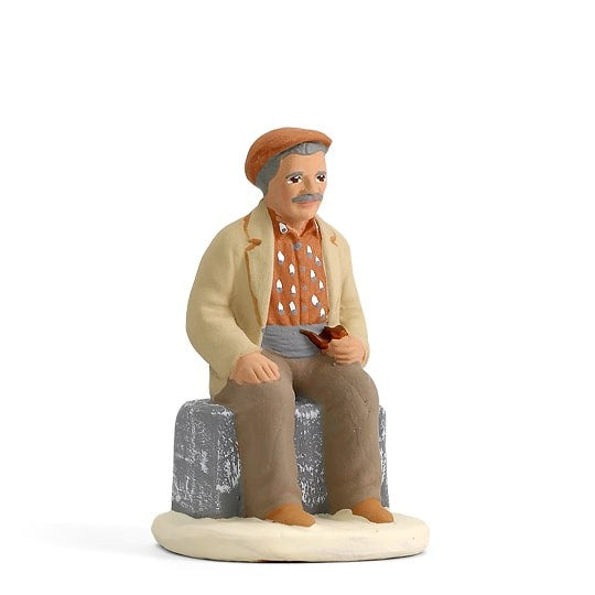Homme à la pipe 7 cm Arterra Collection Blanche