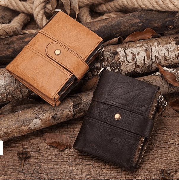 Genuine Leather Anti-theft Retro Wallet With Chain - Buy 2 Get Free Shipping