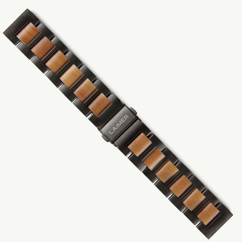 WATCH STRAP APPLE WOOD - BLACK