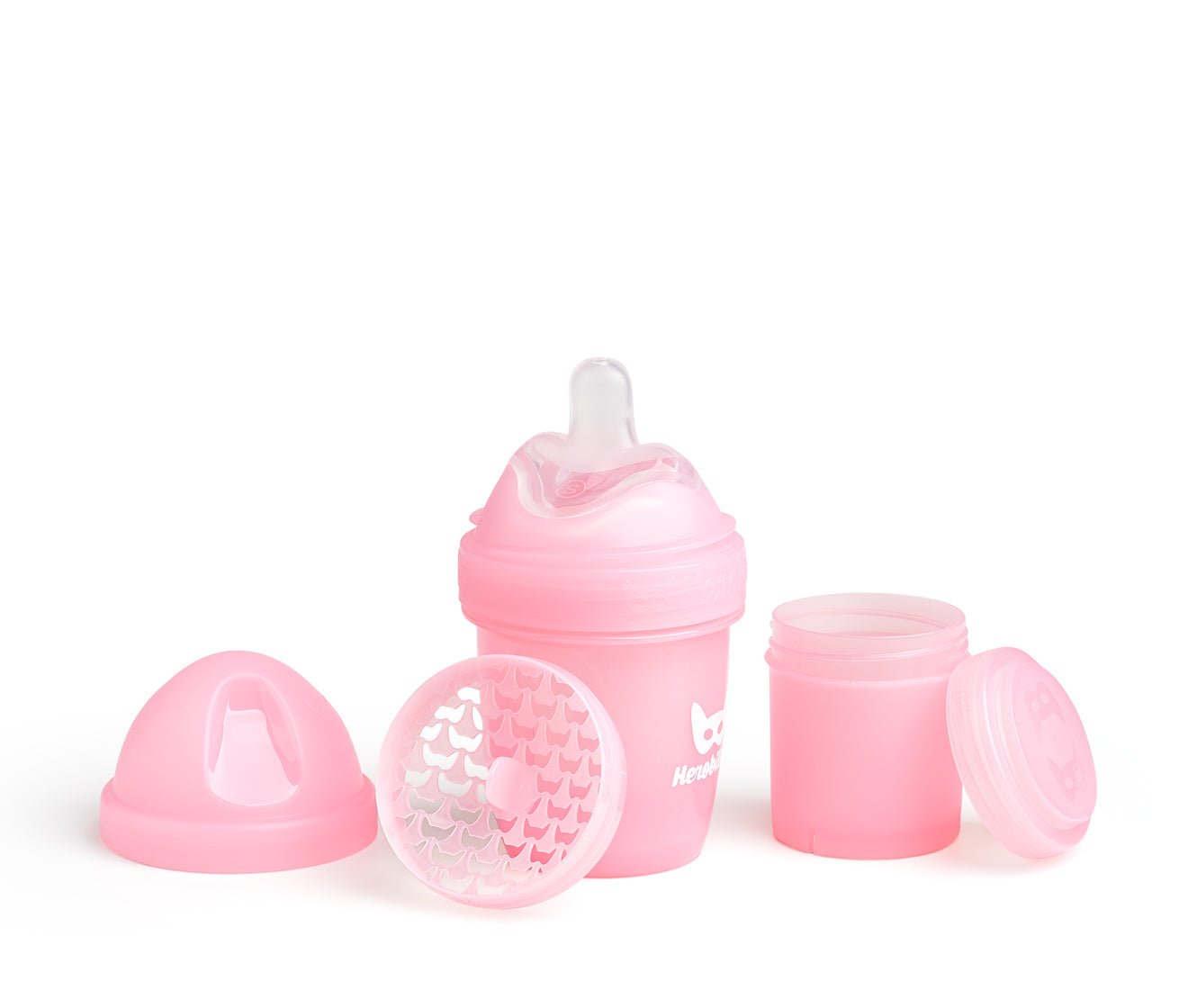 Herobility Babyflasche, Pink Rosa 140 ml