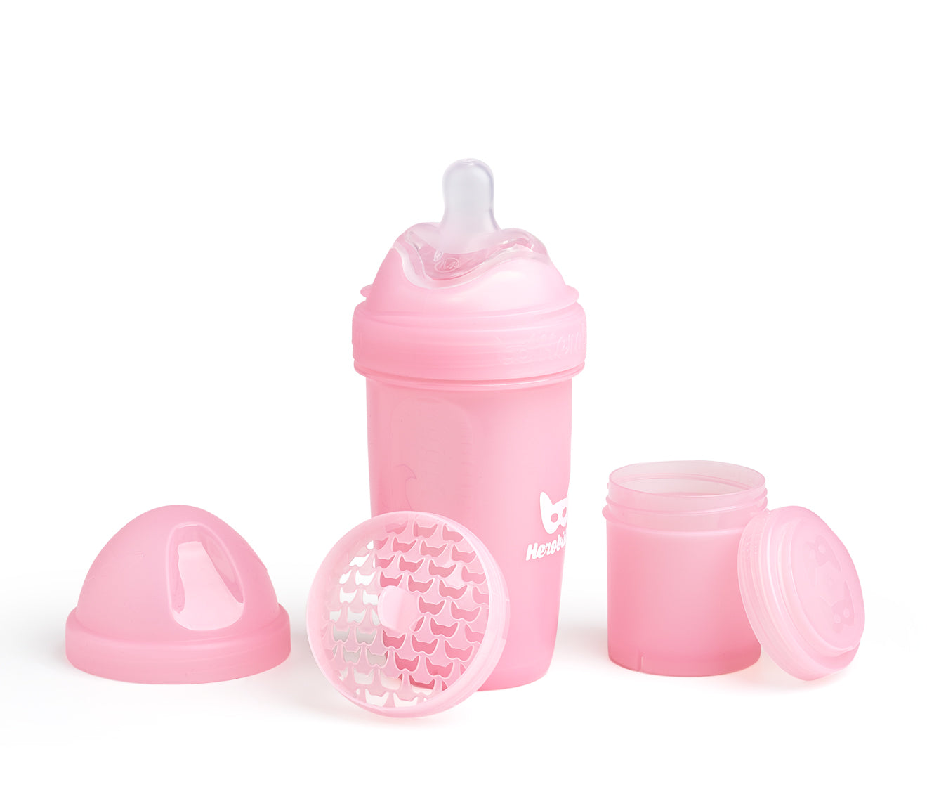 Herobility Babyflasche, Pink Rosa 240 ml