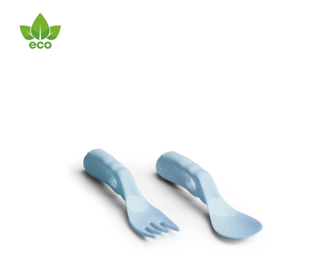 Eco Baby Spoon & Fork Blue