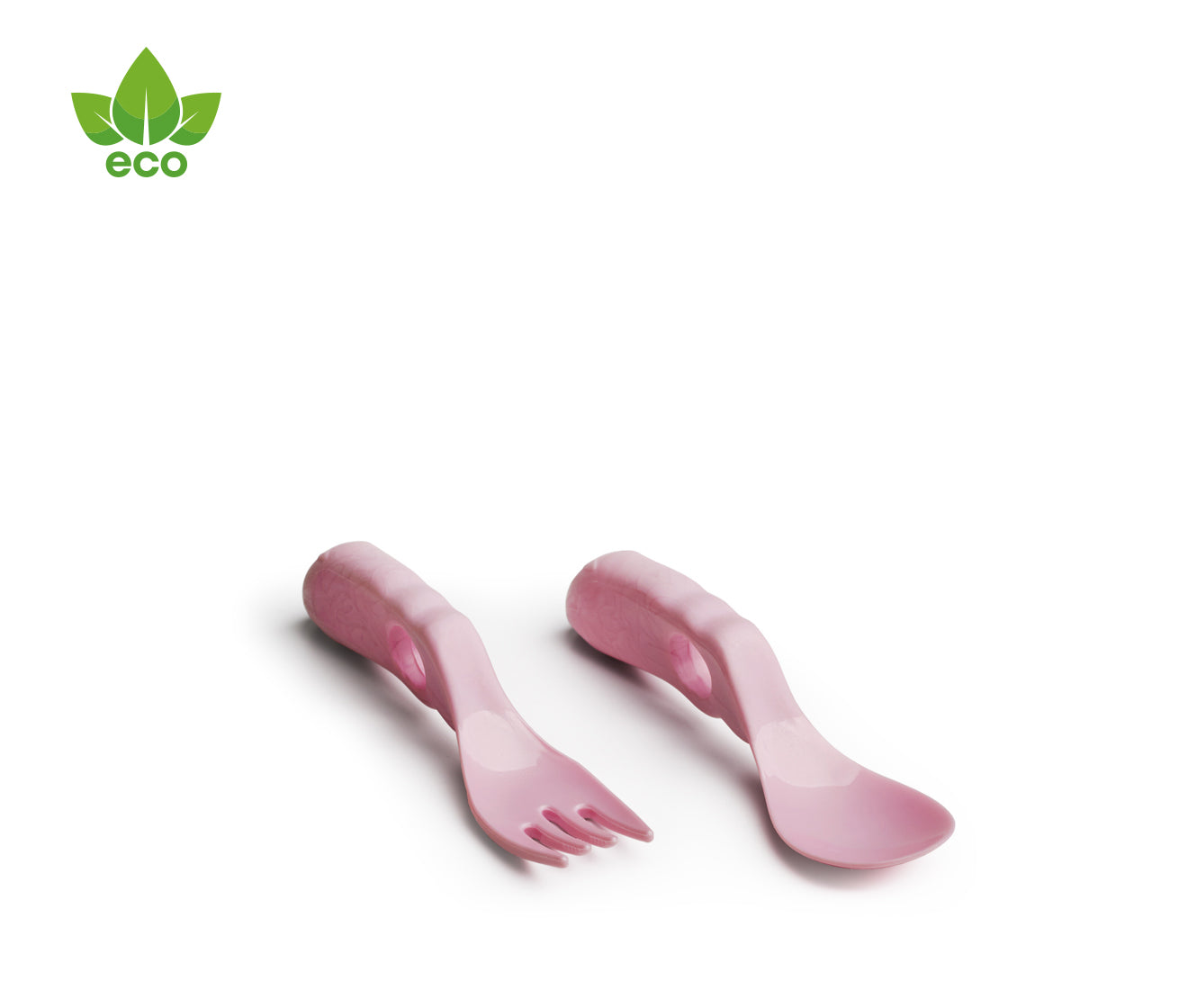 Eco Baby Spoon & Fork Pink