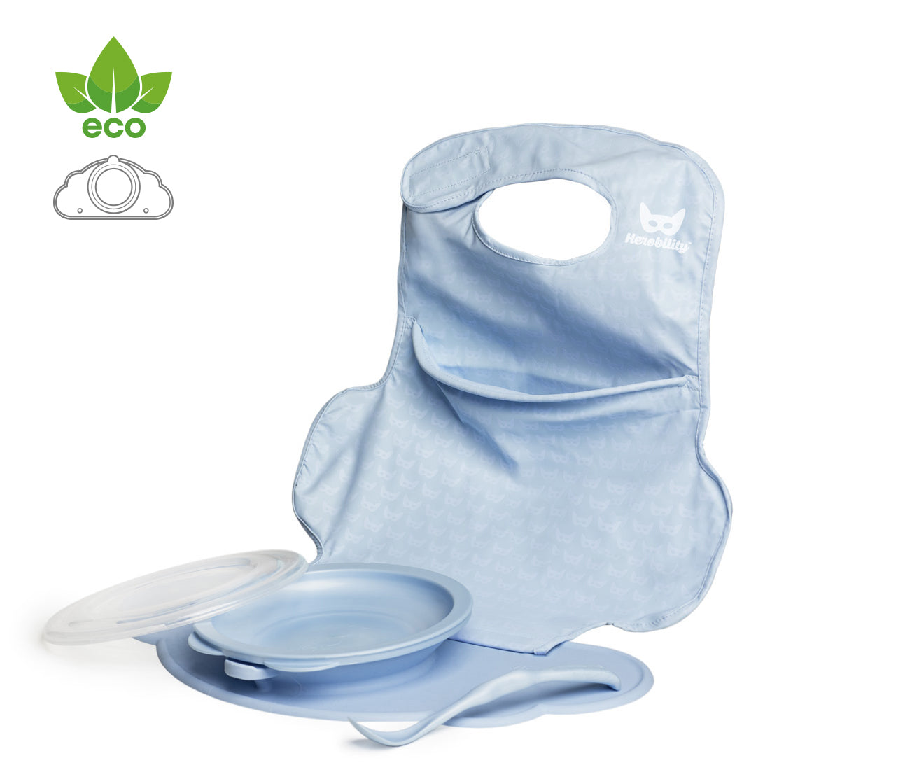 Eco Placemat Feeding Set Blue