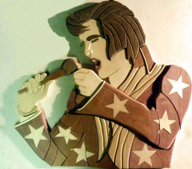 Elvis Presley Intarsia Woodworking Pattern