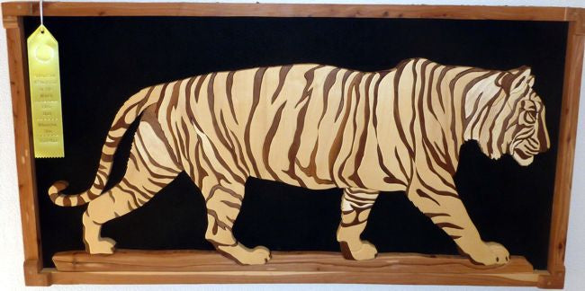 Tiger Intarsia Woodworking pattern