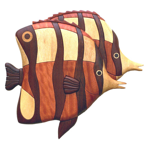 Angel Fish intarsia woodworking pattern