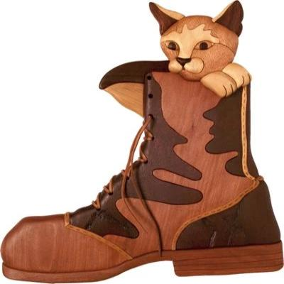 Puss in Boot Intarsia Pattern