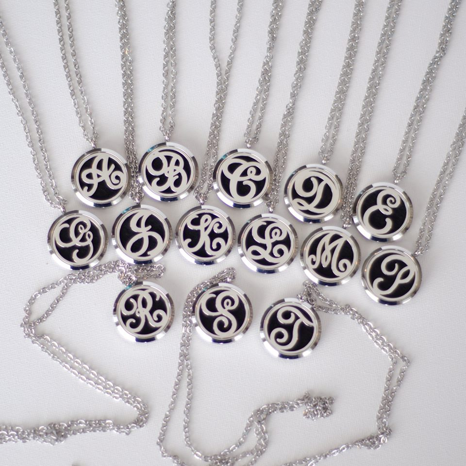 Monogram Essential Oil Necklace