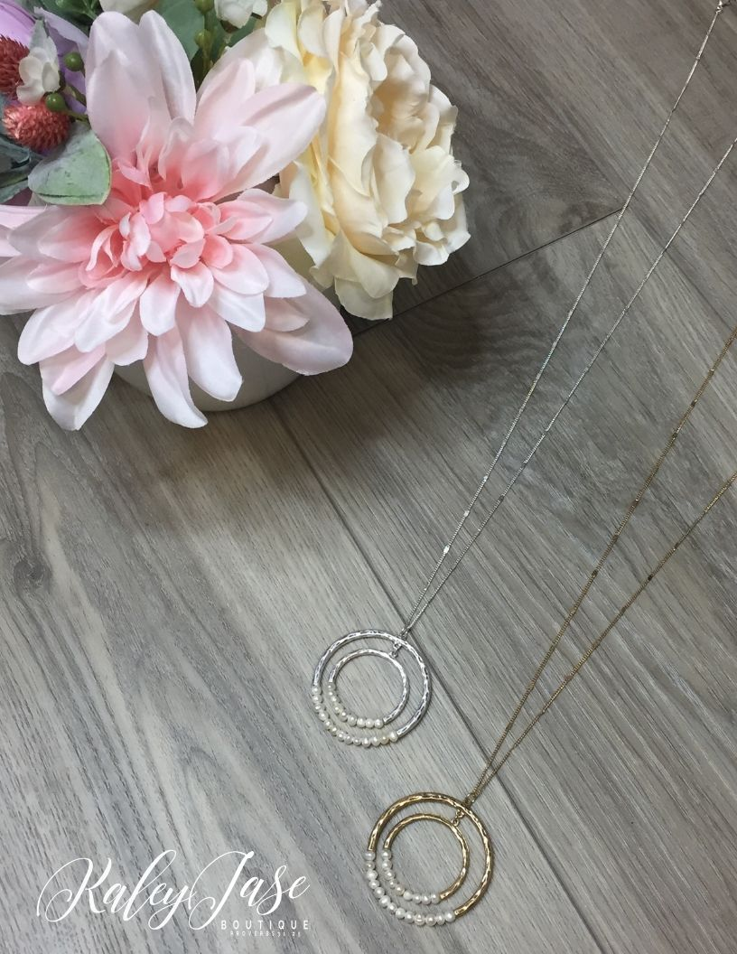 Inner Pearl Hammered Necklace #20