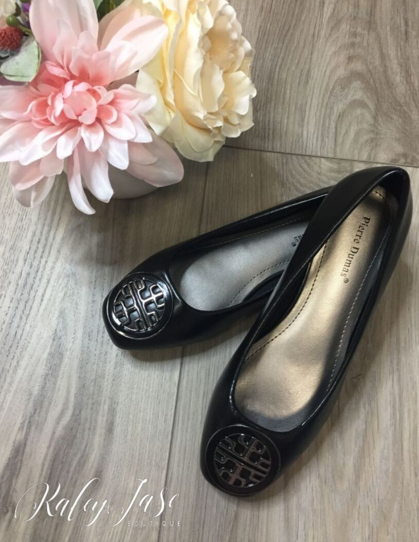 Designer Inspired Black Flats