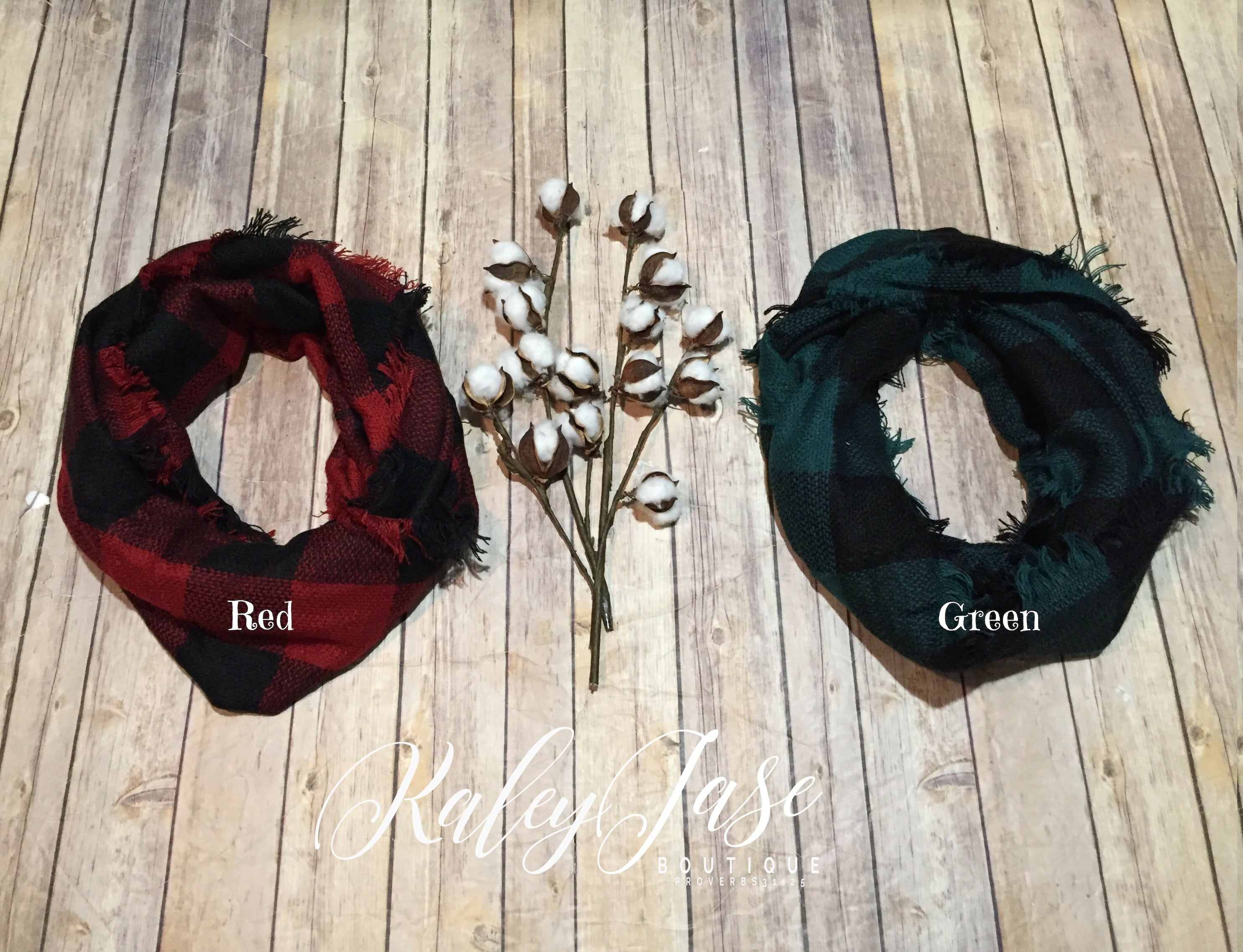 Deal of the Day Buffalo Plaid Infinity Scarves
