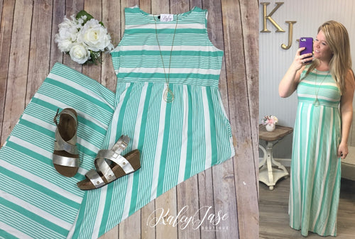 Mint Mix Stripe Maxi