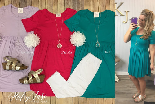 JF Solid Babydoll Tunic/Dress