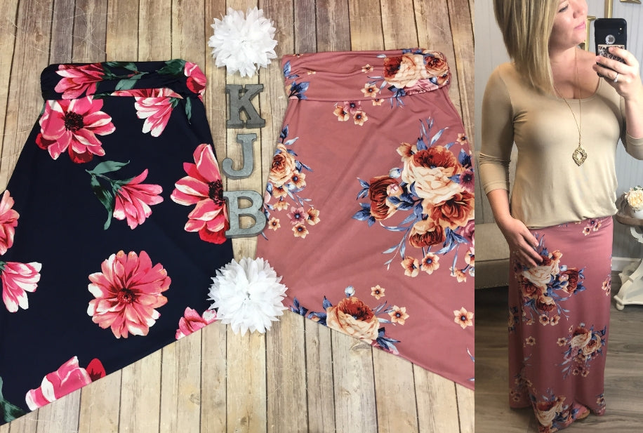 Deal of the Day Floral Maxi Skirts