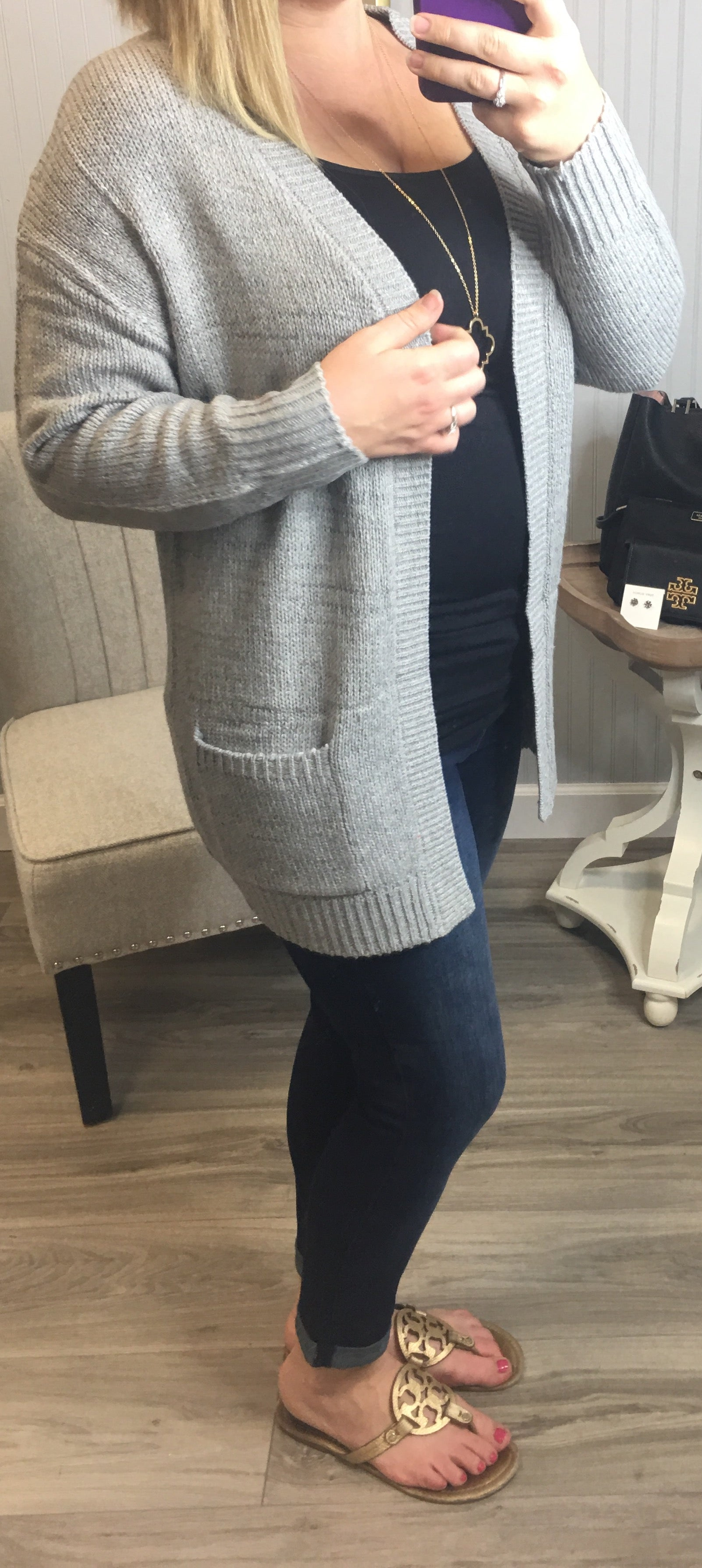 Thick Knit Pocket Cardigans