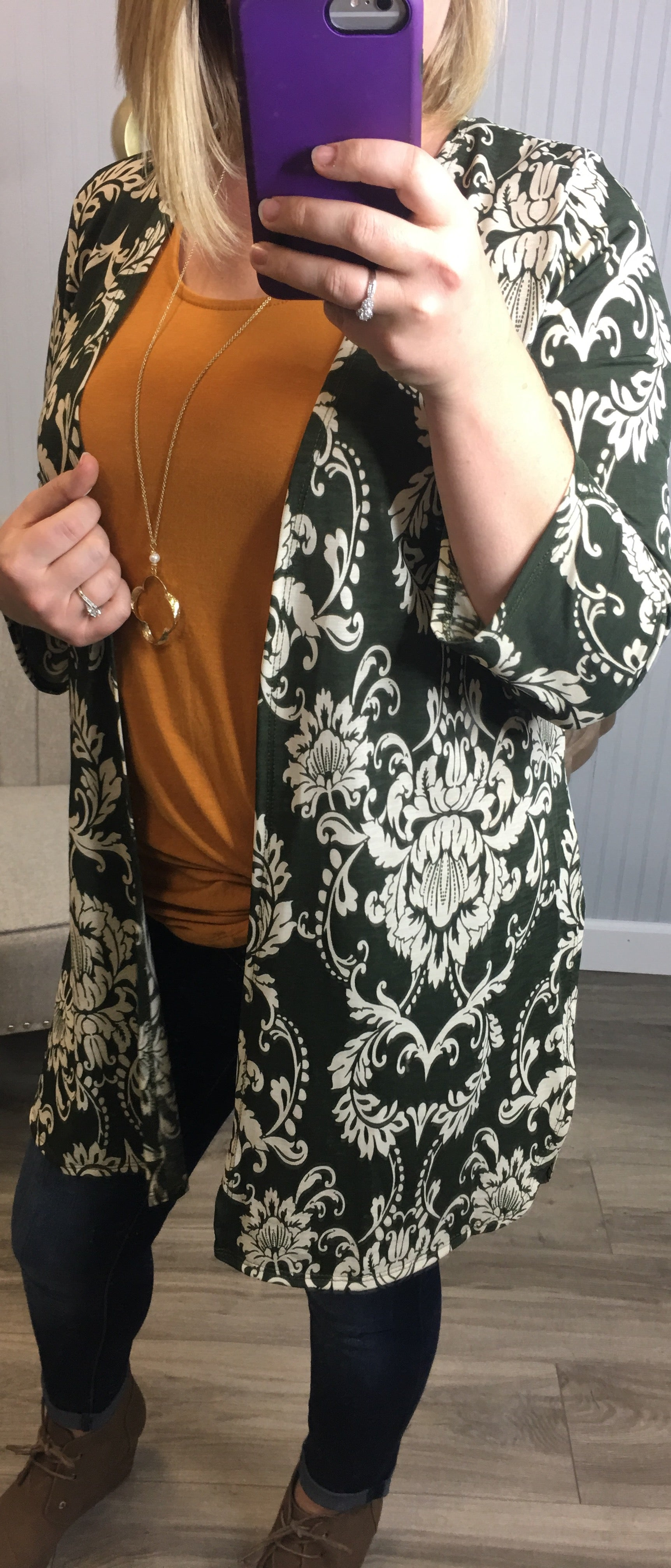 Damask Sleek Cardigans