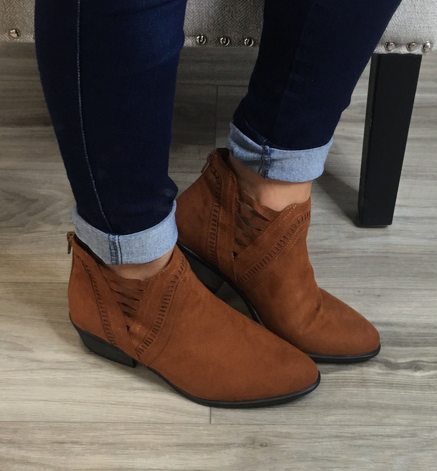 Criss Cross Side Booties