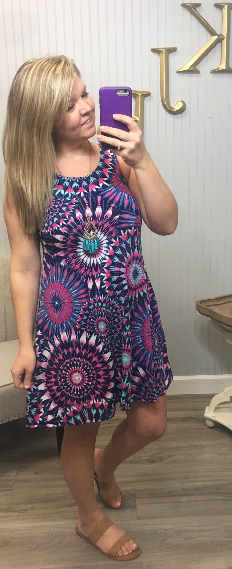 Bright Multi Facet Dress (Plus & Regular)
