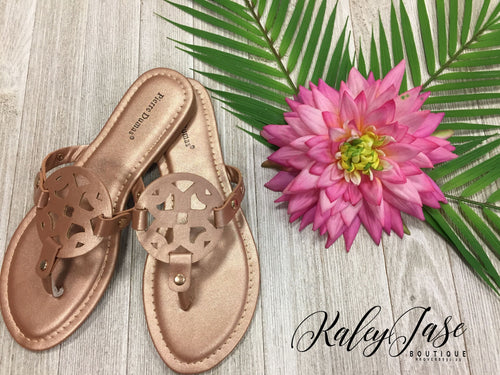 Rose Gold Designer Inspired Sandals