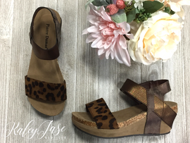 Low Heel Leopard Wedges